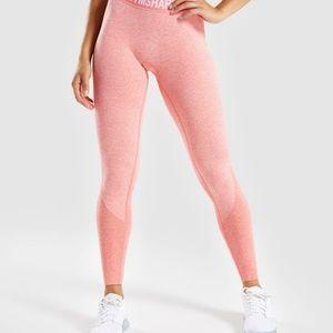 NWT! Gymshark Peach Coral Seamless Flex Leggings